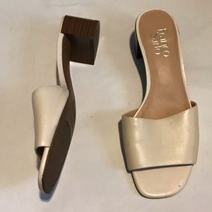 Franco sarto slip on heeled sandals